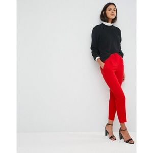 ASOS Red High Waist Cigarette Trousers